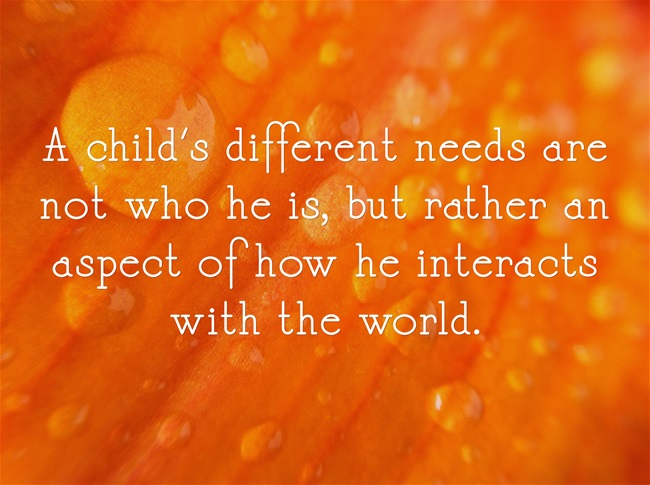 child's different needs teaching parenting