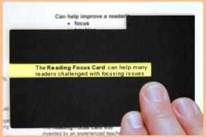 reading focus card dyslexia Matan