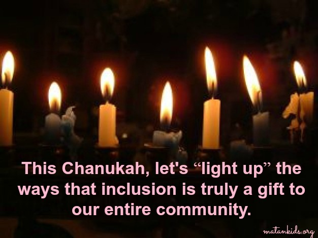 chanukah; light up inclusion