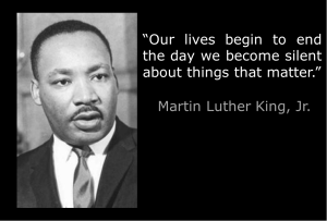 martin luther king - silent about things that matter