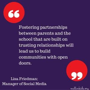 Parents as Partners; Matan