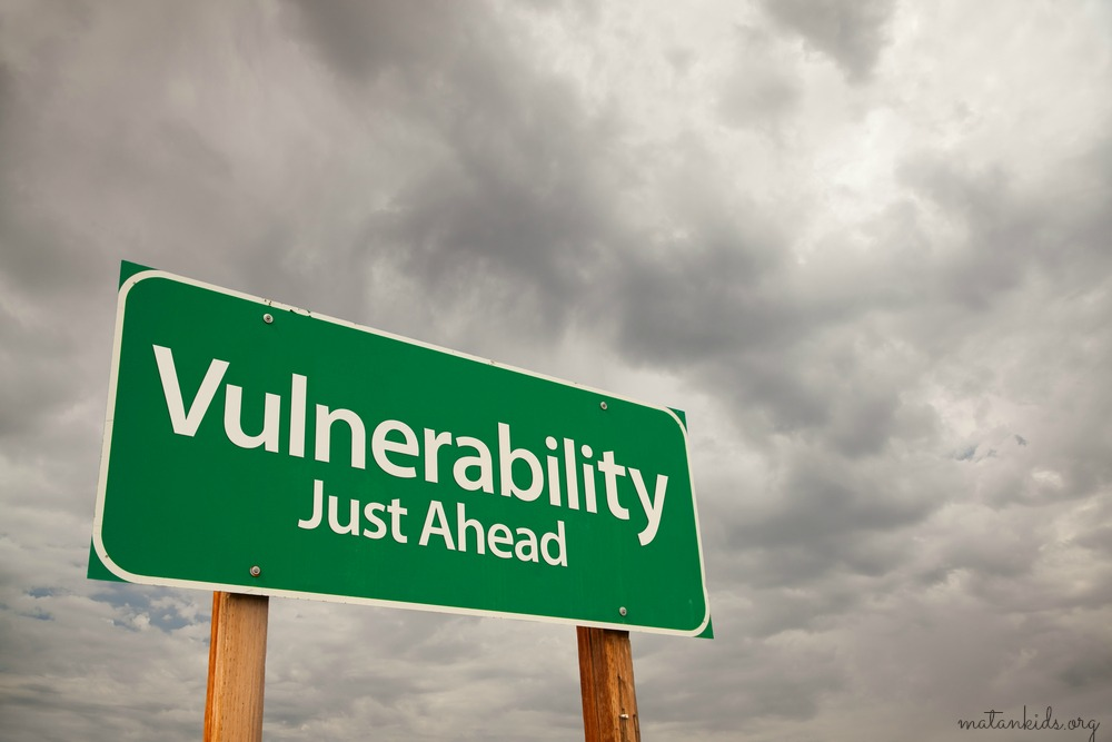 sign displaying the words vulnerability ahead; Matan
