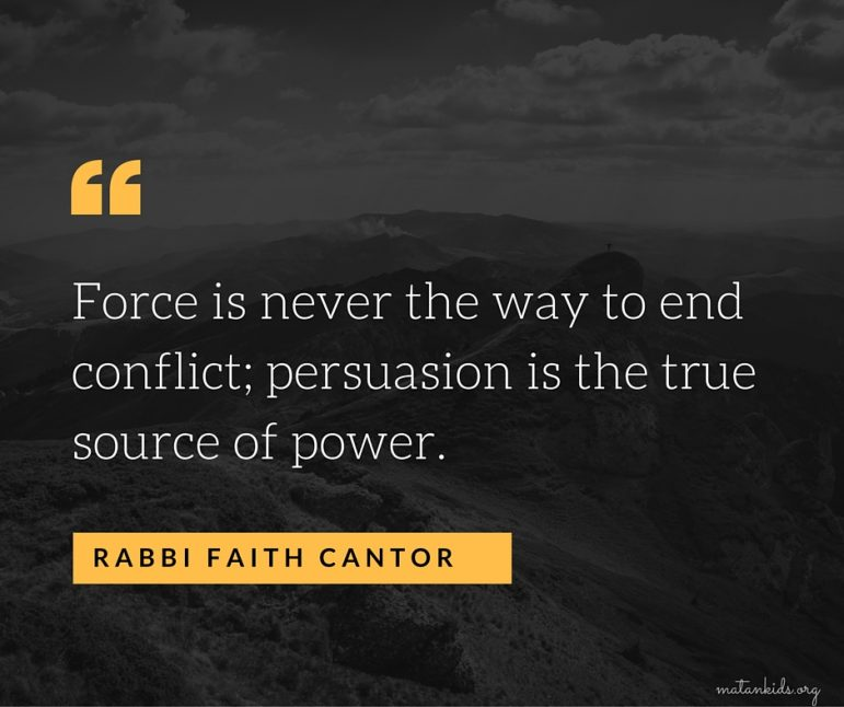 force is never the way to end conflict; Matan
