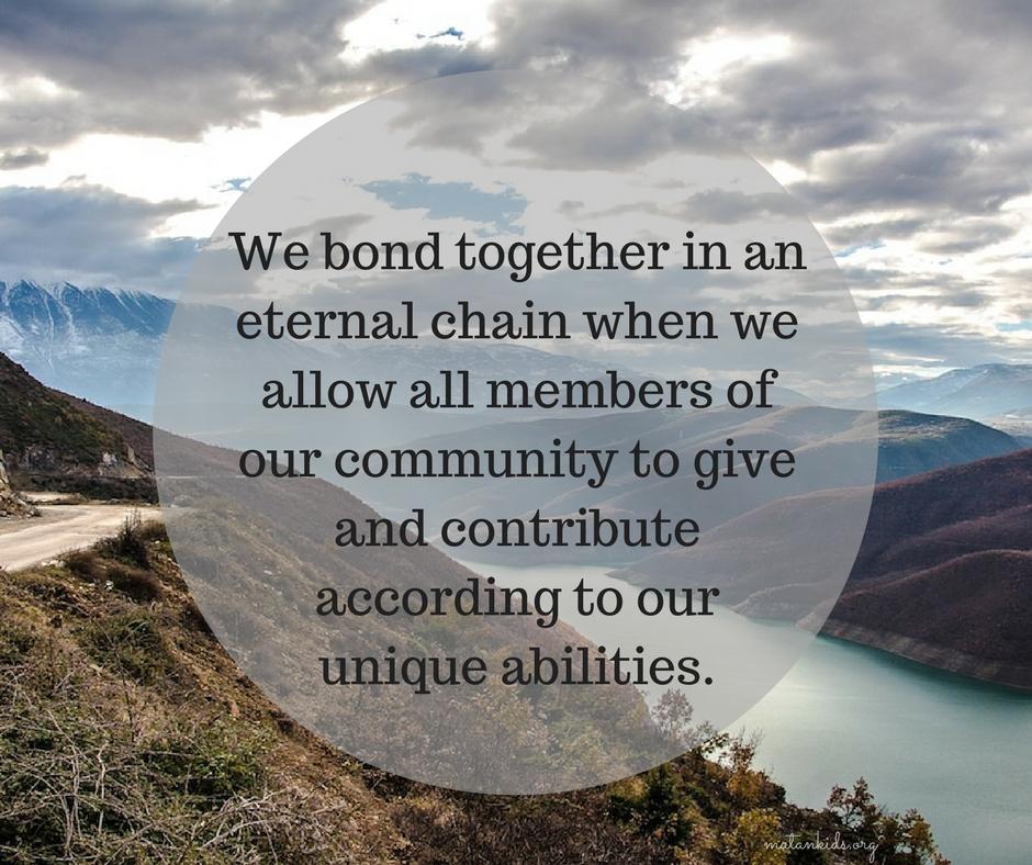 we bond together in an eternal chain; Matan