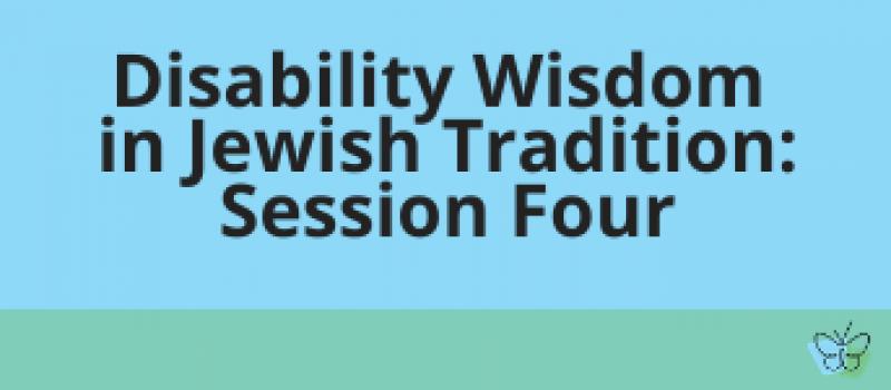 disability wisdom session four