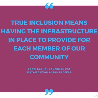 Getting To True Inclusion – Parashat Ki Teitzei